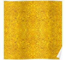 Symmetrical Liquid Gold Poster