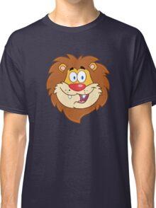 Cute smiling head of a cartoon lion Classic T-Shirt