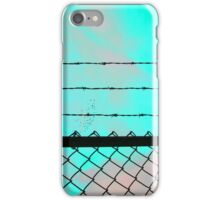 Blue Acid Sky & Barbed Wire iPhone Case/Skin
