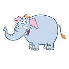 Funny cartoon elephant character by berlinrob
