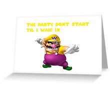Wario Party Greeting Card