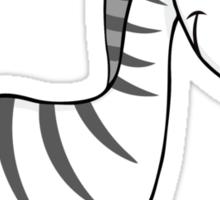 Outline of cute cartoon zebra Sticker