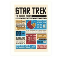 Star Trek Infographic Art Print
