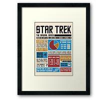 Star Trek Infographic Framed Print