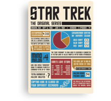 Star Trek Infographic Canvas Print
