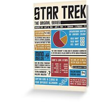 Star Trek Infographic Greeting Card