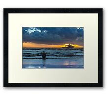 The Polar King from Crosby Beach Framed Print