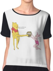 Give Me All Your Bee Syrup Meme Chiffon Top