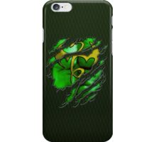 Yellow dragon Kungfu fighter chest ripped torn tee tshirt iPhone Case/Skin