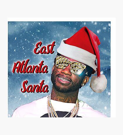Gucci Mane East Atlanta Santa With Snow Background- Christmas Photographic Print