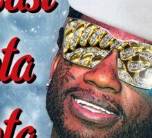 Gucci Mane East Atlanta Santa With Snow Background- Christmas Sticker