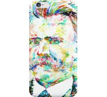 NIETZSCHE watercolor portrait iPhone Case/Skin