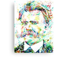 NIETZSCHE watercolor portrait Canvas Print