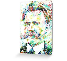 NIETZSCHE watercolor portrait Greeting Card