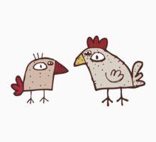 Funny cartoon chicken Kids Clothes