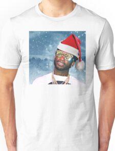 Gucci Mane Santa Snow Background- Christmas Unisex T-Shirt