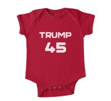 Donald Trump 45th President Distressed  One Piece - Short Sleeve