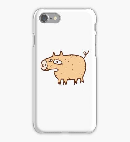Funny cartoon pig iPhone Case/Skin