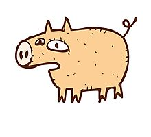 Funny cartoon pig Photographic Print