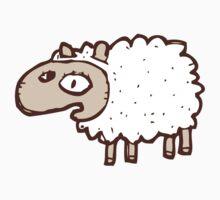 Cute little cartoon sheep One Piece - Short Sleeve