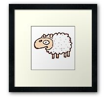 Cute little cartoon sheep Framed Print