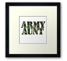 Army AUNT Framed Print