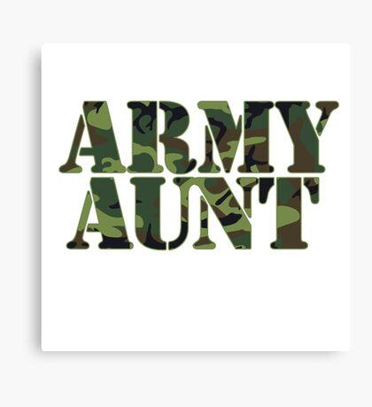 Army AUNT Canvas Print