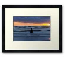 As the tide rolls in Framed Print