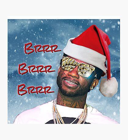 Gucci Mane Brrr Brrr Brrr Snow Santa- Christmas Photographic Print