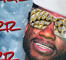 Gucci Mane Brrr Brrr Brrr Snow Santa- Christmas Sticker