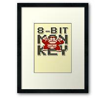 Donkey Kong - 8-Bit Monkey Framed Print