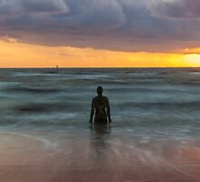 Sunset at Crosby Beach, Liverpool by Paul Madden