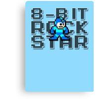 Megaman - 8-Bit Rockstar Canvas Print