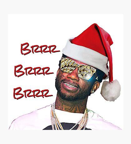 Gucci Mane Brrr Brrr Brrr Santa- Christmas Photographic Print