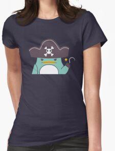 Grumpy cartoon pirate penguin Womens Fitted T-Shirt