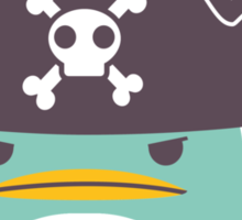 Grumpy cartoon pirate penguin Sticker