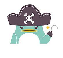 Grumpy cartoon pirate penguin Photographic Print