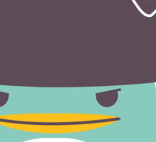 Happy funny cartoon penguin pirate Sticker