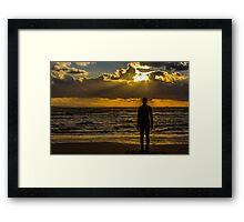 Sunset at Crosby Framed Print