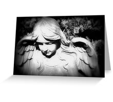 ANGEL IN BLACK AND WHITE Greeting Card