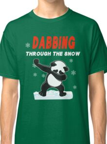 Panda DABBING THROUGH THE SNOW T-SHIRT Classic T-Shirt