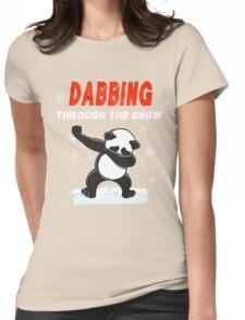 Panda DABBING THROUGH THE SNOW T-SHIRT Womens Fitted T-Shirt