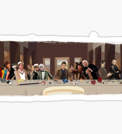 The last supper of the Doctor Sticker