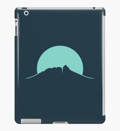 Mountain Sunset - Blue iPad Case/Skin