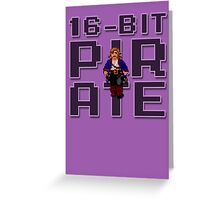 Guybrush - 16-Bit Pirate Greeting Card
