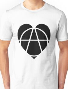 Black Anarchist Heart Unisex T-Shirt