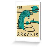Visit Arrakis Greeting Card
