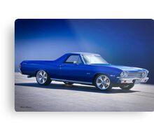 1968 Chevrolet El Camino 307 'Studio Blue' Metal Print