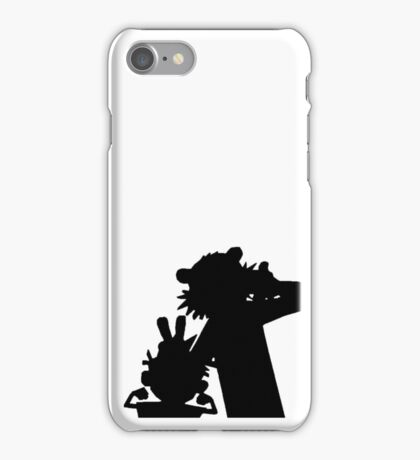 Calvin and Hobbes Silhouette  iPhone Case/Skin