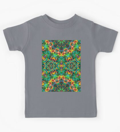 Fractal Floral Abstract G87 Kids Tee